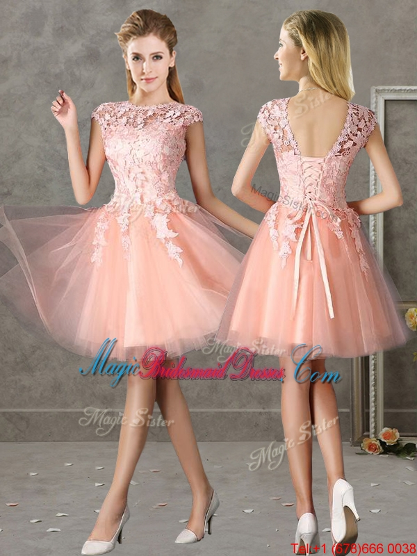 Modern Light Pink Short Dress