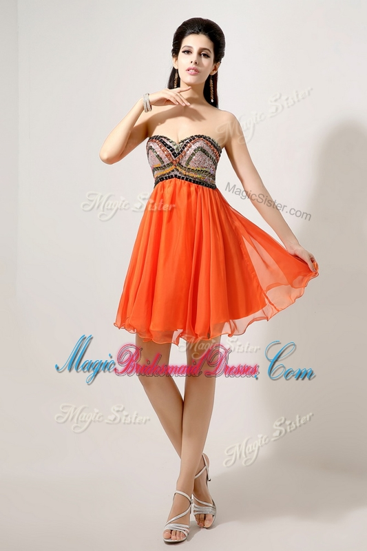 red and orange bridesmaid dresses flower girl dresses