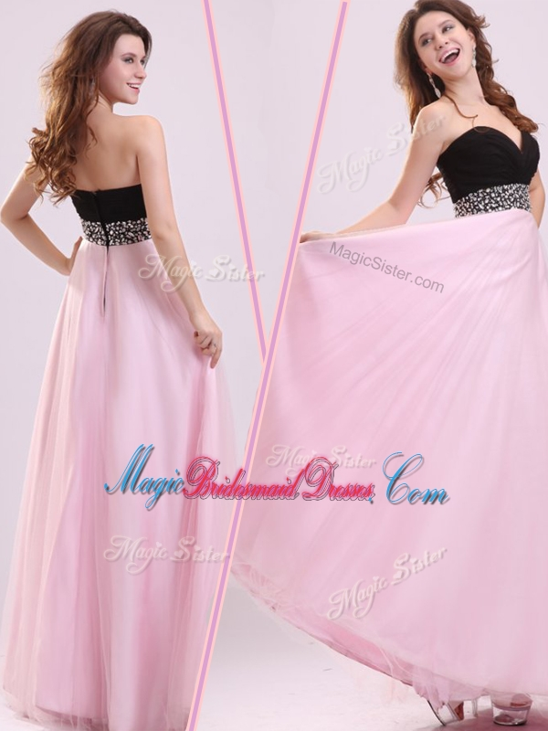2016 Cheap Empire Sweetheart Beading Stunning Bridesmaid Dresses in Baby Pink