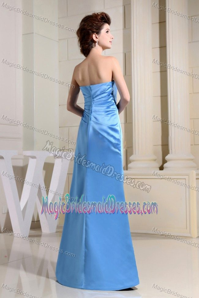 Blue sweetheart ruches bridesmaid dress in florida south for Wedding dresses in south florida