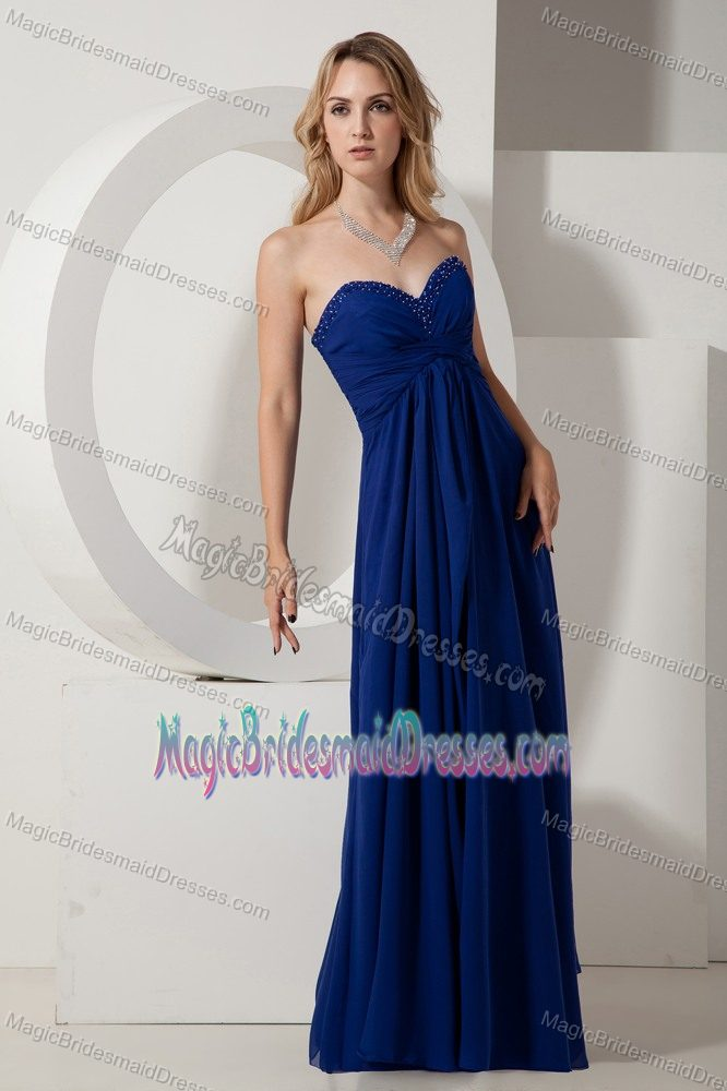 Brits South Africa  city photos : Brits South Africa Sweetheart Beaded Royal Blue Bridesmaid Dress