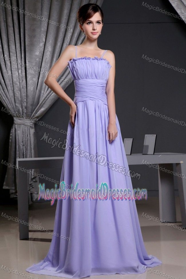 South Africa Straps Lilac Ruches Empire Bridesmaid Dress