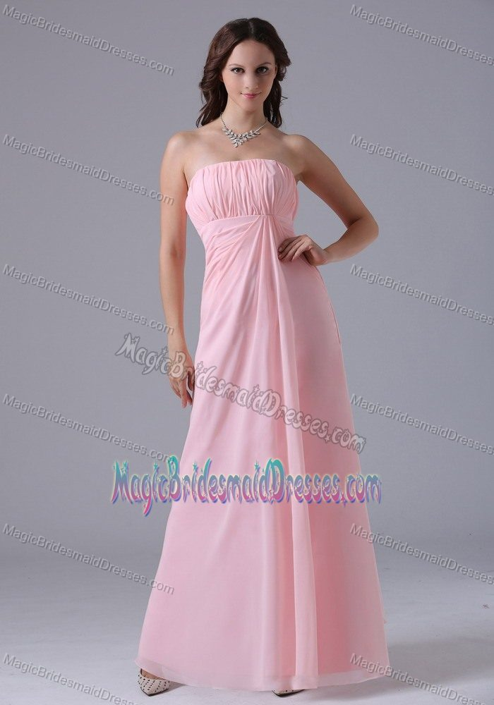 Chiffon Ruchings Baby Pink Bridesmaid Gowns in SA South Australia