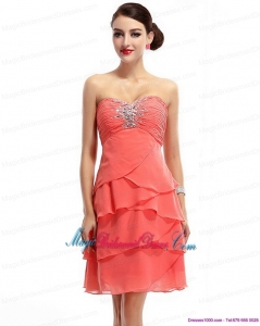 2015 Mini Length Sweetheart New Arrival Bridesmaid Dresses with Rhinestones and Ruching
