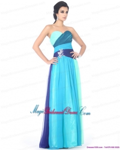 2015 New Arrival Multi Color Sweetheart Bridesmaid Dresses with Ruffles and Beading