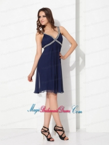 Sequins Ruffled Navy Blue New Arrival Bridesmaid Dresses for 2015