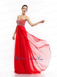 2015 New Arrival Beading Sweetheart Ruching Bridesmaid Dresses with Brush Train