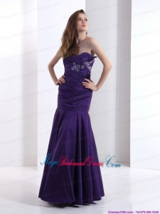 2015 New Arrival Bridesmaid Dresses with Beading and Ruching
