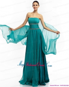 2015 Strapless Discount Bridesmaid Dresses with Ruching and Beading