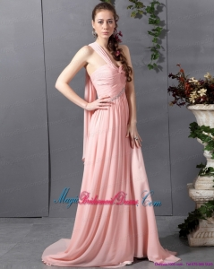 2015 2015 New Arrival Sweetheart Bridesmaid Dress with Watteau Train