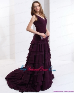2015 New Arrival Bridesmaid Dress in Dark Purple