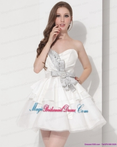 2015 New Arrival Wonderful Sweetheart Ball Gown Prom Dress in White