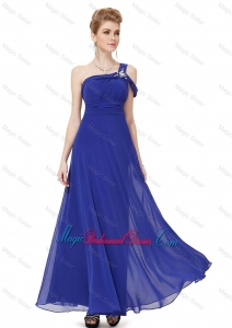 Beautiful Beaded One Shoulder Bridesmaid Dresses in Blue