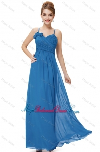 Cheap Spaghetti Straps Bridesmaid Dresses with Hand Made Flowers