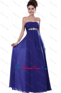 2016 Elegant Strapless Bridesmaid Dresses in Royal Blue