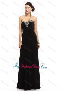 New Style Sweetheart Beaded Black Bridesmaid Dresses with Lace Up