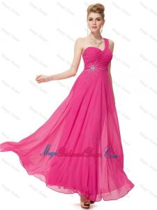 Modern Empire One Shoulder Bridesmaid Dresses with Beading