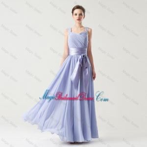 Hot Sale Straps Bridesmaid Dresses with Bowknot and Beading