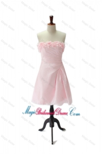 Brand New Hand Made Flowers and Ruching Baby Pink Bridesmaid Dresses