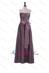 Brand New Sweetheart Belt and Bowknot Bridesmaid Dresses in Brown