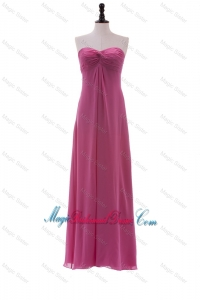 Discount Sweetheart Ruching Long Bridesmaid Dresses in Chiffon