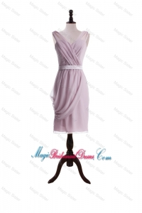 New Arrival Belt Short Bridesmaid Dresses for Holiday