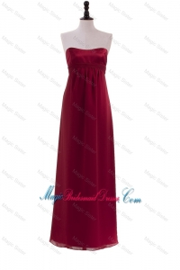 New Style Ruching Wine Red Bridesmaid Dresses for 2016