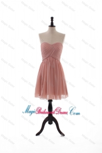 2016 Summer Empire Sweetheart Ruching Recommend Bridesmaid Dresses in Peach