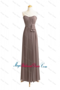 Custom Made Empire Sweetheart Ruching Bridesmaid Dresses with Belt