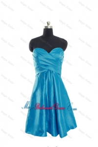 Discount Sweetheart Short Bridesmaid Dresses with Ruching for 2016