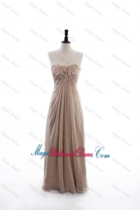 Perfect Empire Sweetheart Ruching Bridesmaid Dresses with Hand Made Flowers