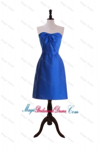 New Style Royal Blue Short Bridesmaid Dresses with Belt for 2016
