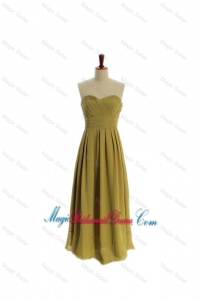Cheap A Line Olive Green Olive Green Long Bridesmaid Dresses