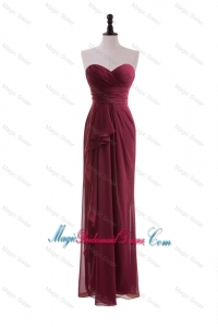 2016 Fall Beautiful Empire Sweetheart Bridesmaid Dresses with Belt