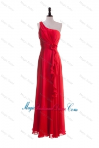 2016 Gorgeous Hand Made Flowers and Ruffles Red Bridesmaid Dresses