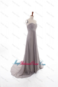 2016 Winter Sexy Empire Sweetheart Bridesmaid Dresses with Brush Train
