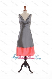 Custom Made V Neck Multi Color Short Bridesmaid Dresses for 2016