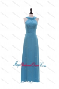 Inexpensive Empire Ruching Long Bridesmaid Dresses for Homecoming