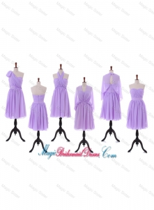 2016 Custom Made Empire Bridesmaid Dresses with Ruching in Lavender