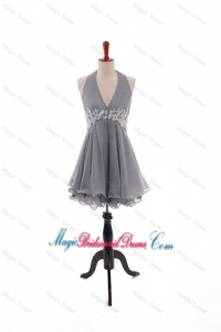 Custom Made Halter Top Bridesmaid Dresses with Appliques and Beading