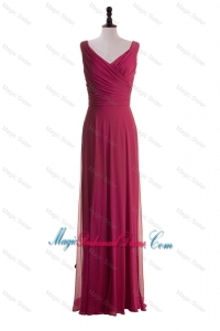 Gorgeous 2016 Empire V Neck Bridesmaid Dresses with Ruching