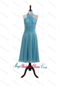 Gorgeous 2016 Summer Baby Blue Bridesmaid Dresses with Ruching