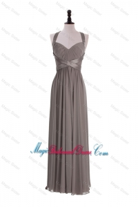 Custom Made Empire Halter Top Bridesmaid Dresses with Ruching
