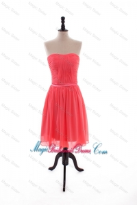 2015 Summer Pretty Empire Strapless Bridesmaid Dresses with Belt