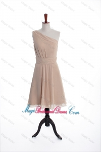 Inexpensive Champagne Short Bridesmaid Dresses with Belt for Holiday