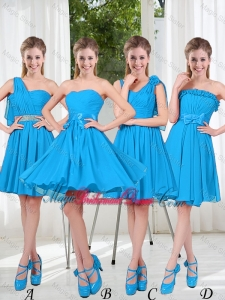 Exclusive 2015 Bridesmaid Dresses with Ruching in Blue