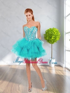 Latest Ball Gown Sweetheart Beaded Bridesmaid Dresses in Multi Color