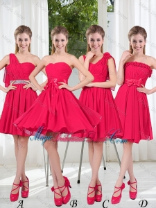 Romantic A Line Bowknot Bridesmaid Dresses in Chiffon