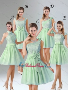 Romantic Short Bridesmaid Dresses with Hand Made Flower for Wedding Party