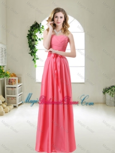Discount 2015 Bridesmaid Dresses with Sashes and Ruching